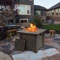 "30"" Square Propane Gas Fire Pit Table.This outdoor fire table is made of sturdy steel."