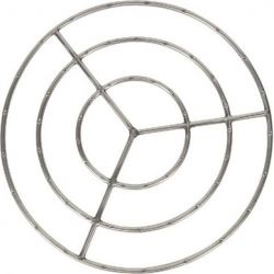 Dagan FR-30S-3 Triple Ring Design Fire Ring, Stainless Steel