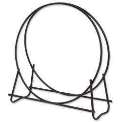 Black Finish 36 in Diameter Tubular Log Hoop Uniflame