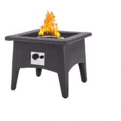 Vivacity Collection EEI-2990-EXP Outdoor Patio Fire Pit Table in Espresso Color