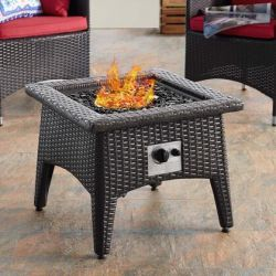 Outdoor Patio Fire Pit Table in Espresso Color