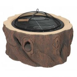 Dagan DG-FP-1021 Stump Design Wood Burning Fire Pit