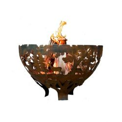 Esschert Design USA FF1025 Wildlife Fire Bowl, Rust Metal - Large