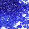 "Fire Pit Glass Fire Tempered Glass 1/2"" Diamond Blue, 40 lbs"