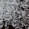 "Fire Pit Glass Tempered Fire Glass 1/2"" Crystal Clear, 20 lbs"