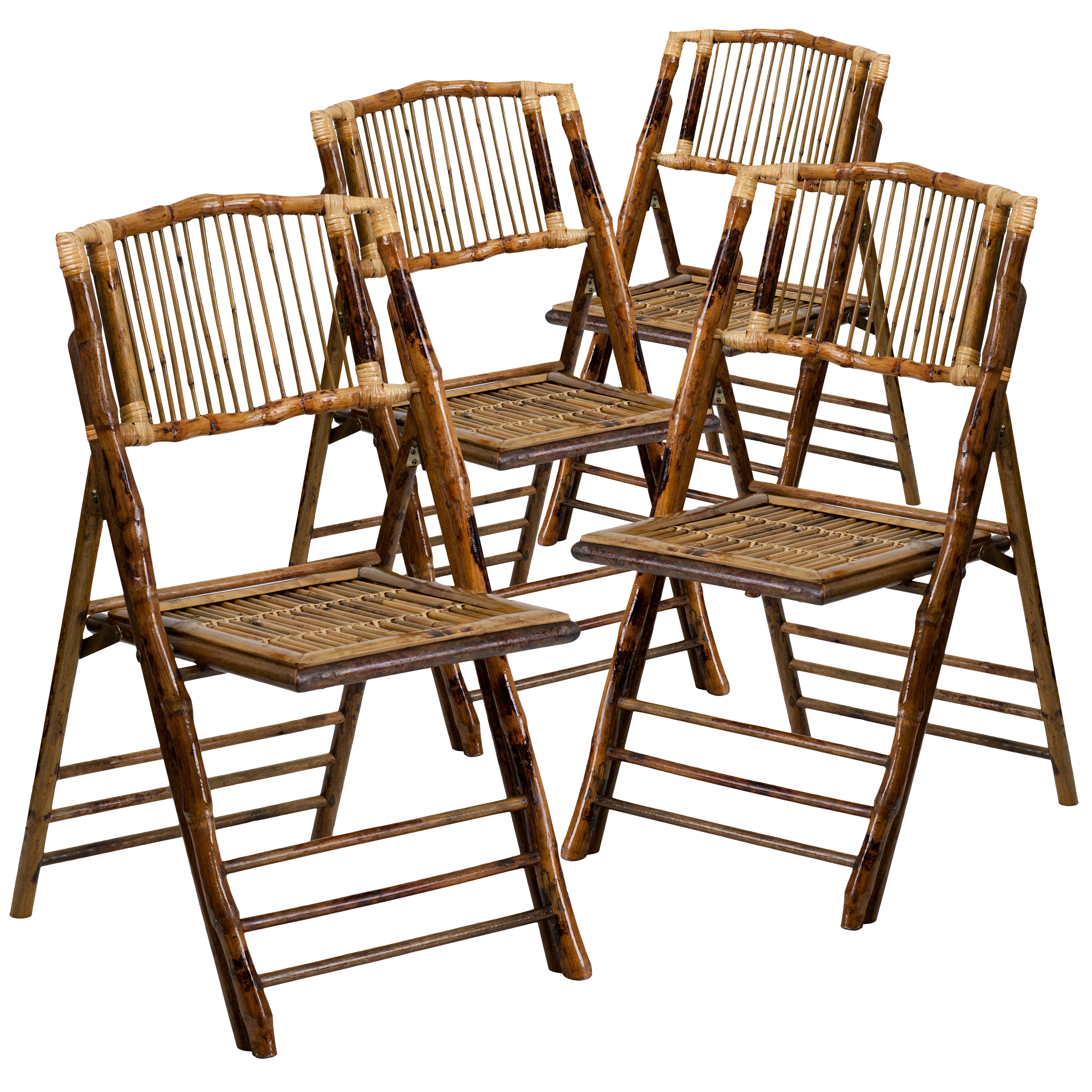 4 Pack American Champion Bamboo Folding Chair