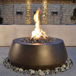 Belize Fire Table LP or Natural Gas 42-48in. Architectural Pottery (Fire Table Size: 48 X 18 inches, Belize Ignition: AWEIS electronic)