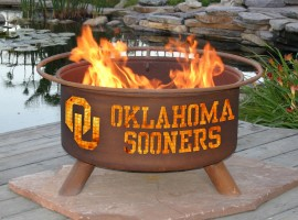 Collegiate Fire Pit to Show School Spirit From Patina Products (College: Oklahoma)