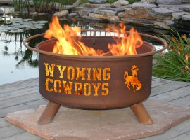 Collegiate Fire Pit to Show School Spirit From Patina Products (College: Wyoming)