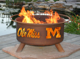 Collegiate Fire Pit to Show School Spirit From Patina Products (College: Ole Miss)