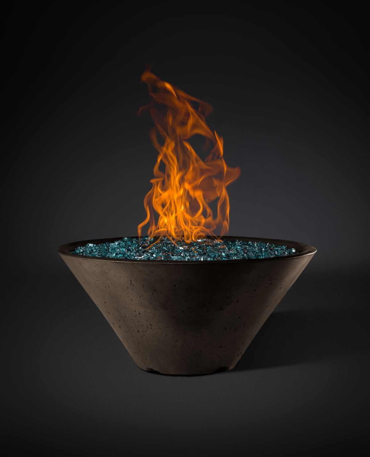 "Ridgeline Conical Fire Bowl Slick Rock (Size: 34"", Ignition: Match Lit)"