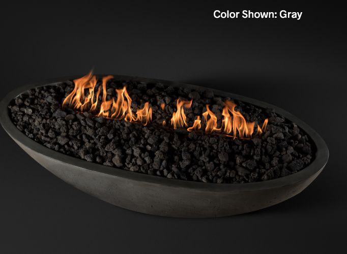 Oasis Oval Fire Bowl Slick Rock (Ignition: Match Lit)