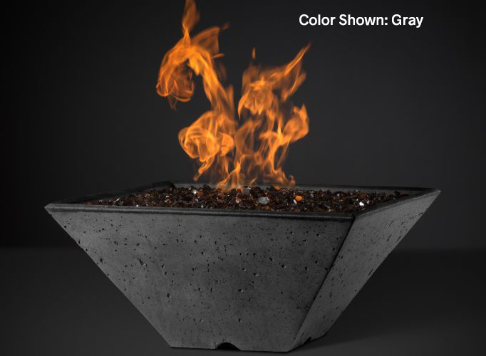 "Ridgeline Square Fire Bowl Slick Rock (Size: 22"", Ignition: Match Lit)"